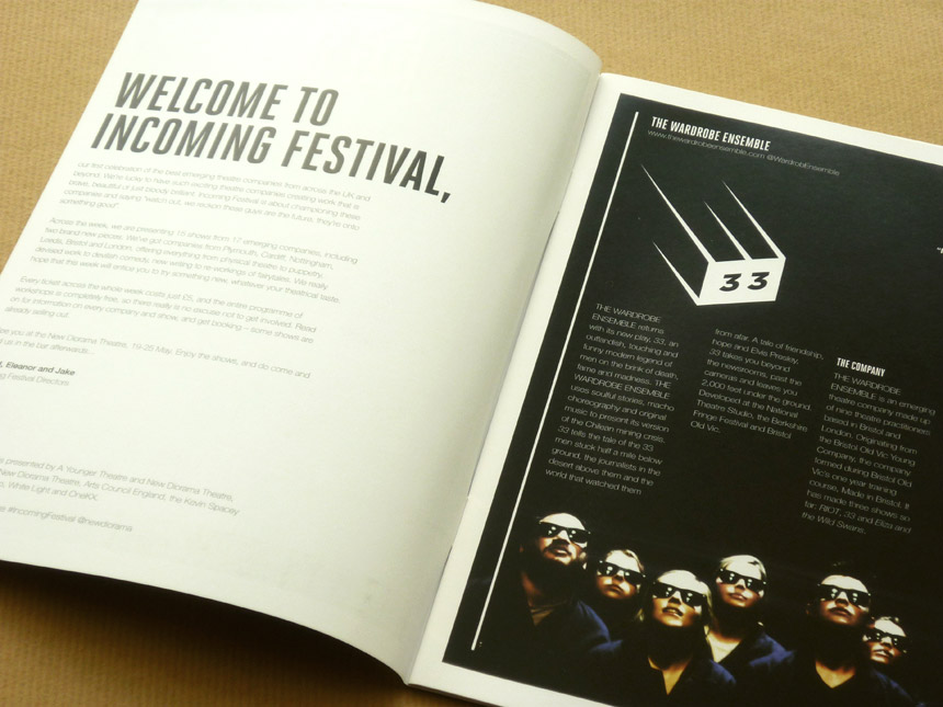 Incoming Festival logo & brochure design 5