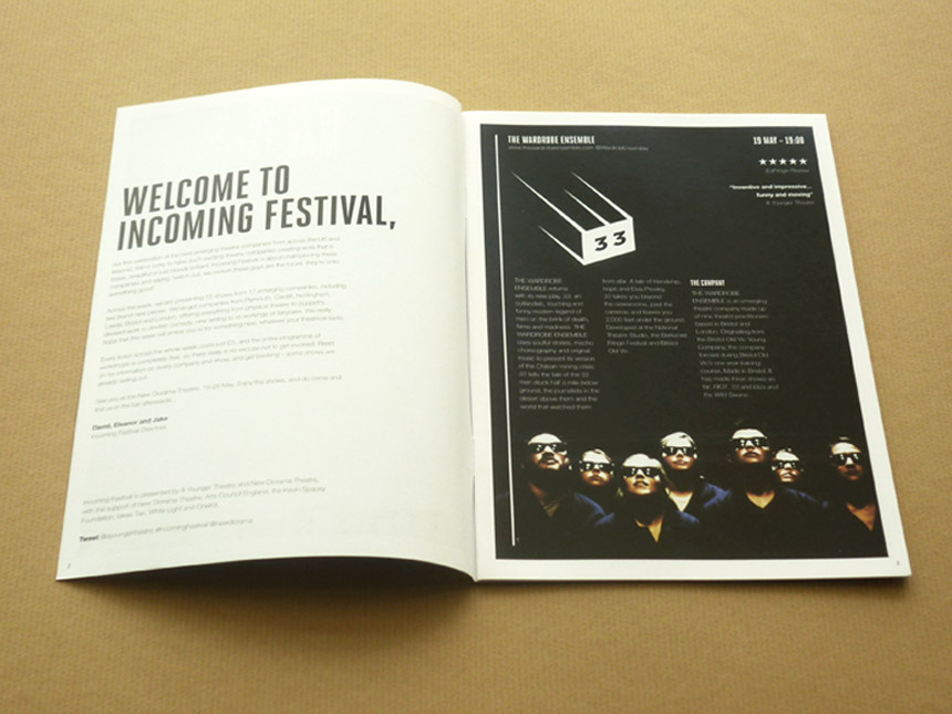 Incoming Festival logo & brochure design 6