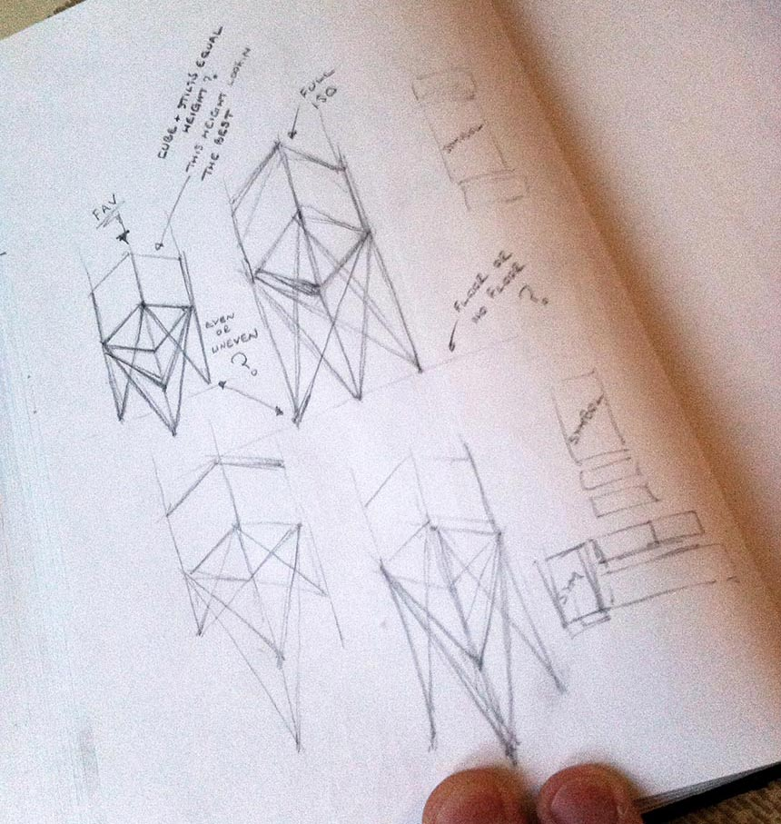 Concepts on Stilts logo development sketches