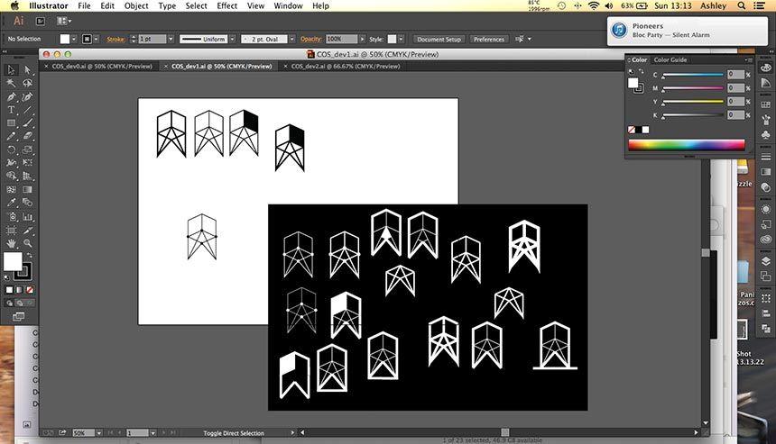 Concepts on Stiles logo development vector