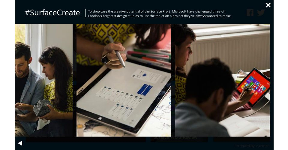 Microsoft surface interactive creative